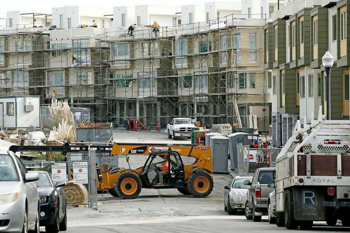The Hunter's Point Shipyard housing construction along Kirkwood Avenue on Wednesday, Dec. 19, 2018, in San Francisco, Calif.