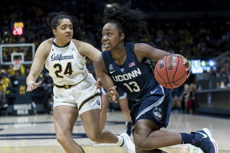 UConn's Christyn Williams is currently tied for third on the Huskies in scoring (13.8 points per game). Photo: John Hefti / Associated Press / Copyright 2018 The Associated Press. All rights reserved