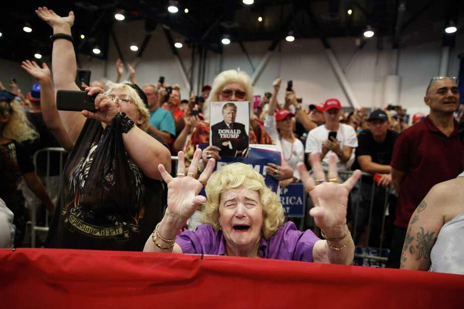 Supporters of President Donald Trump cheer at a campaign rally Sept. 20 in Las Vegas. The truth, however, is that his support has always been underwater. Photo: Evan Vucci /Associated Press / Copyright 2018 The Associated Press. All rights reserved.