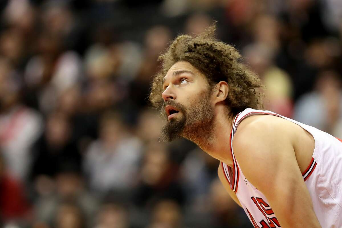 WASHINGTON, DC - DECEMBER 28: Robin Lopez #42 of the Chicago Bulls looks on against the Washington Wizards in the second half at Capital One Arena on December 28, 2018 in Washington, DC. NOTE TO USER: User expressly acknowledges and agrees that, by downloading and or using this photograph, User is consenting to the terms and conditions of the Getty Images License Agreement. (Photo by Rob Carr/Getty Images)