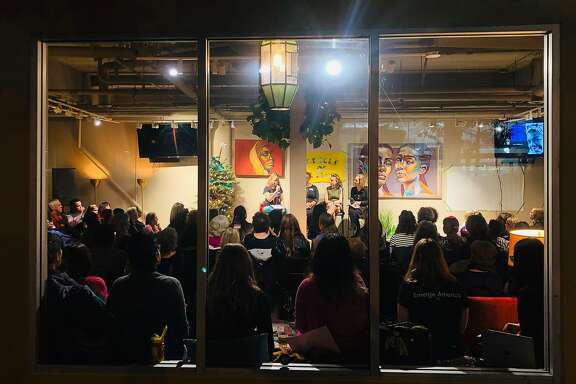 "Manny's, an event space on Valencia Street, held an event called ""Women and Power,"" in the fall of 2018."