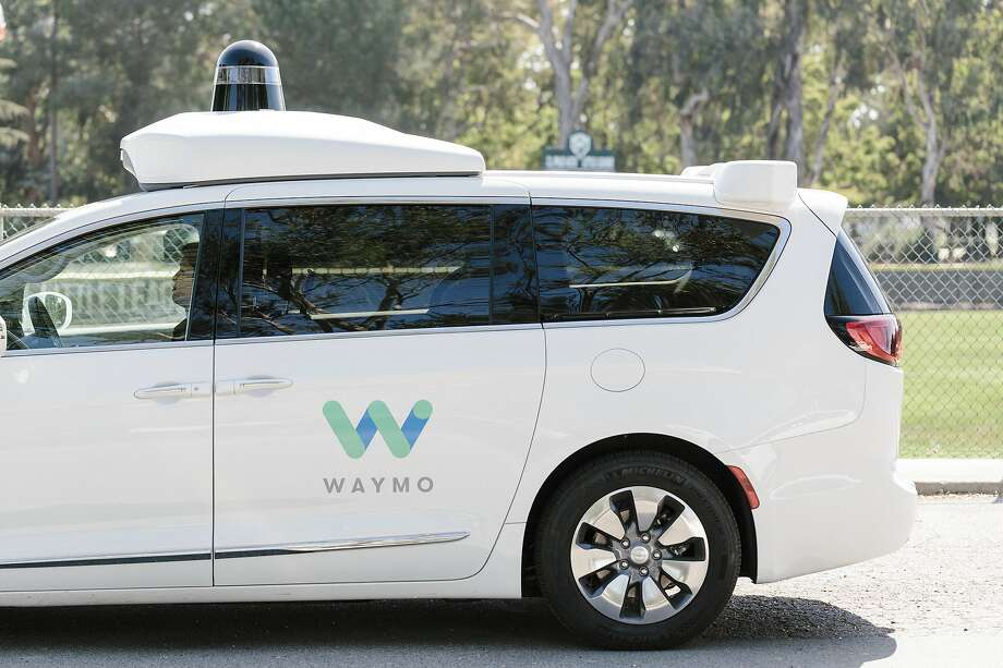 """FILE - A Waymo autonomous vehicle in Mountain View, Calif., Aug. 25, 2017.Many test passengers recently complained about """"weird drop-offs, circuitous routes, and shaky driving"""" but others applauded their Waymo taxi for """"coping admirably with idiot drivers of the human variety"""" during their ride. Photo: Jason Henry, NYT"""