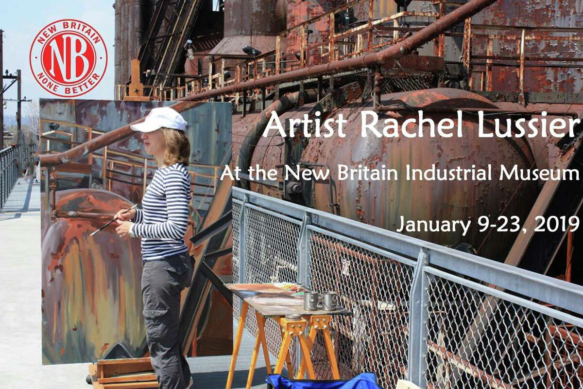 Artist Rachel Lussier is working at the Industrial Museum of New Britain from Jan. 9-23.