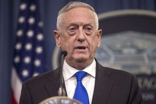 FILE - DECEMBER 23: FILE - DECEMBER 23: President Trump announced Defense Secretary Mattis will leave office January 1 and Patrick Shanahan will serve as Acting Defense Secretary. ARLINGTON, VA - AUGUST 28: U.S. Secretary of Defense James Mattis speaks during a press briefing at the Pentagon August 28, 2018 in Arlington, Virginia. Mattis held the briefing with Chairman Of The Joint Chiefs of Staff Gen. Joseph Dunford. (Photo by Zach Gibson/Getty Images)