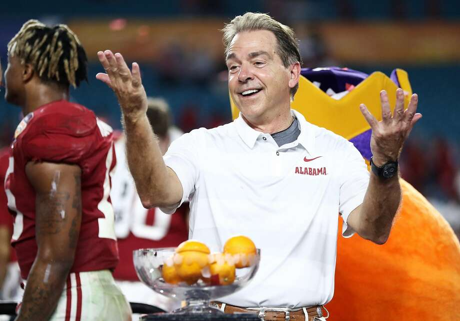 Nick Saban has Alabama in position to win a second straight national title. Photo: Jamie Squire / Getty Images
