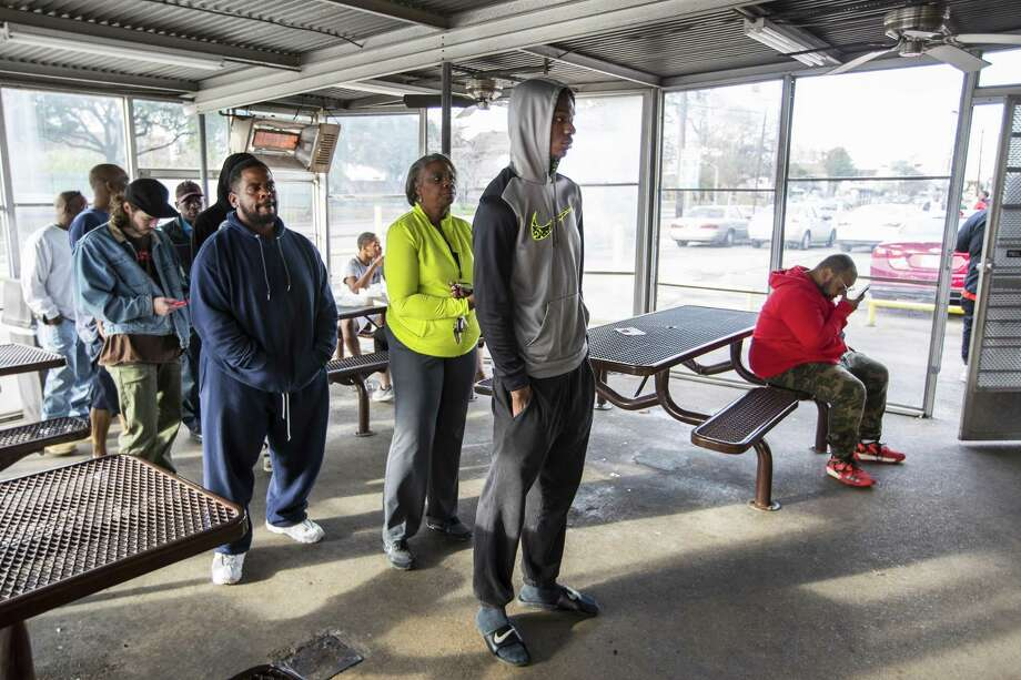 Customers line up to make their order at the original Frenchy's restaurant location on Monday, Dec. 31, 2018, in Houston. The original location, which opened in 1969, will serve its last meal there on January 1, before moving to a temporary location on the 4th of January. Photo: Brett Coomer, Houston Chronicle / Staff Photographer / © 2018 Houston Chronicle