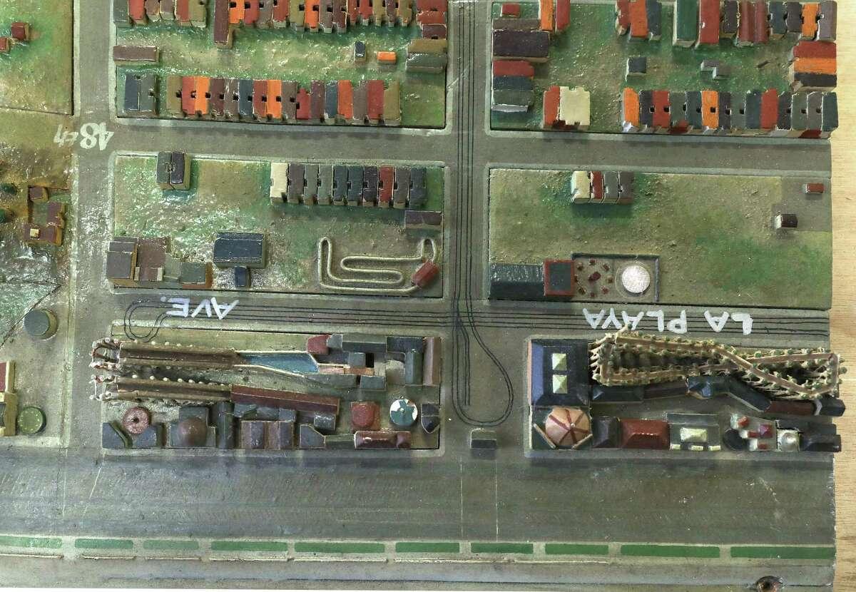A diorama of Playland and the surrounding Richmond neighborhood on display at the San Francisco Library warehouse on Wednesday, December 19, 2018. In the 1930s the WPA built a scale model of San Francisco including every building in the city at that time. The models has long been in storage but has now come into possession of the San Francisco Museum of Modern Art and will be shared between all the branches of the San Francisco Public library beginning in January 2019.