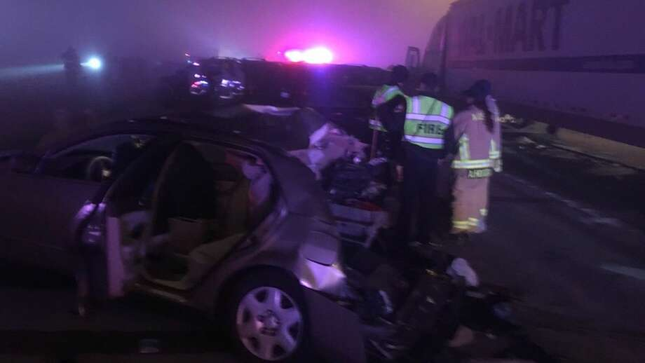 Authorities say more than 20 vehicles were involved in a wreck early Tuesday Jan. 1, 2019, on Texas 130 south of Austin. Click through the gallery to see The craziest things to happen on Texas' highways last year.