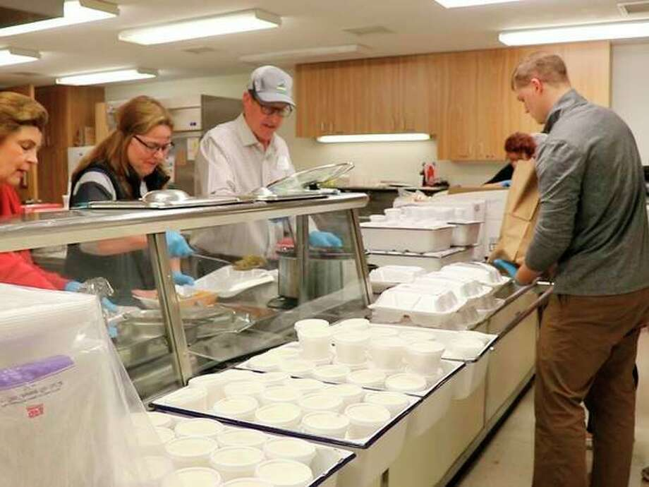 A look at the kitchen on St. John's Lutheran Church's Christmas dinner day. (photo provided)