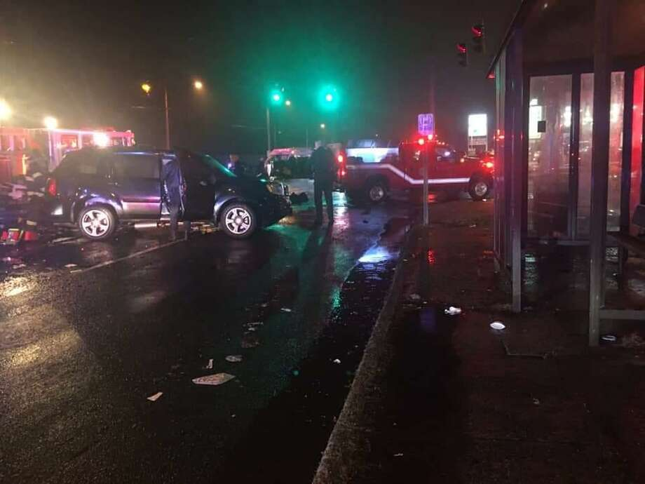 A multi-vehicle crash on Dixwell Avenue left one man in critical condition on New Year's Day. Photo: Photo Courtesy Of Gary Guglielmo