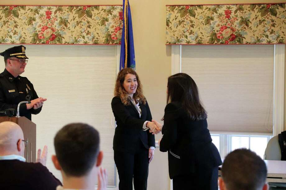 Annamaria Ceci was sworn in on Dec. 11 at the Lapham Community Center. Photo: Contributed Photo