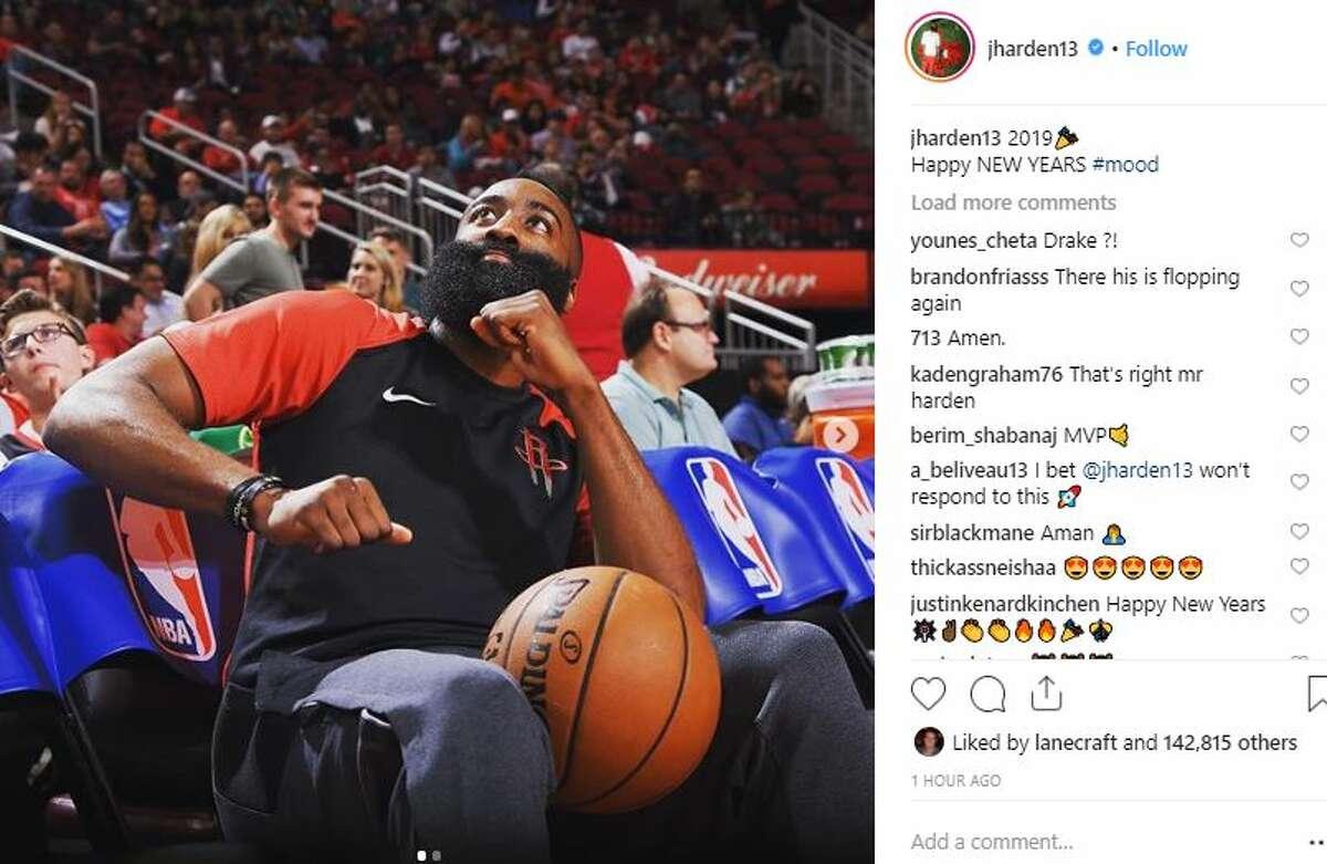 James Harden Houston Rockets Caption: