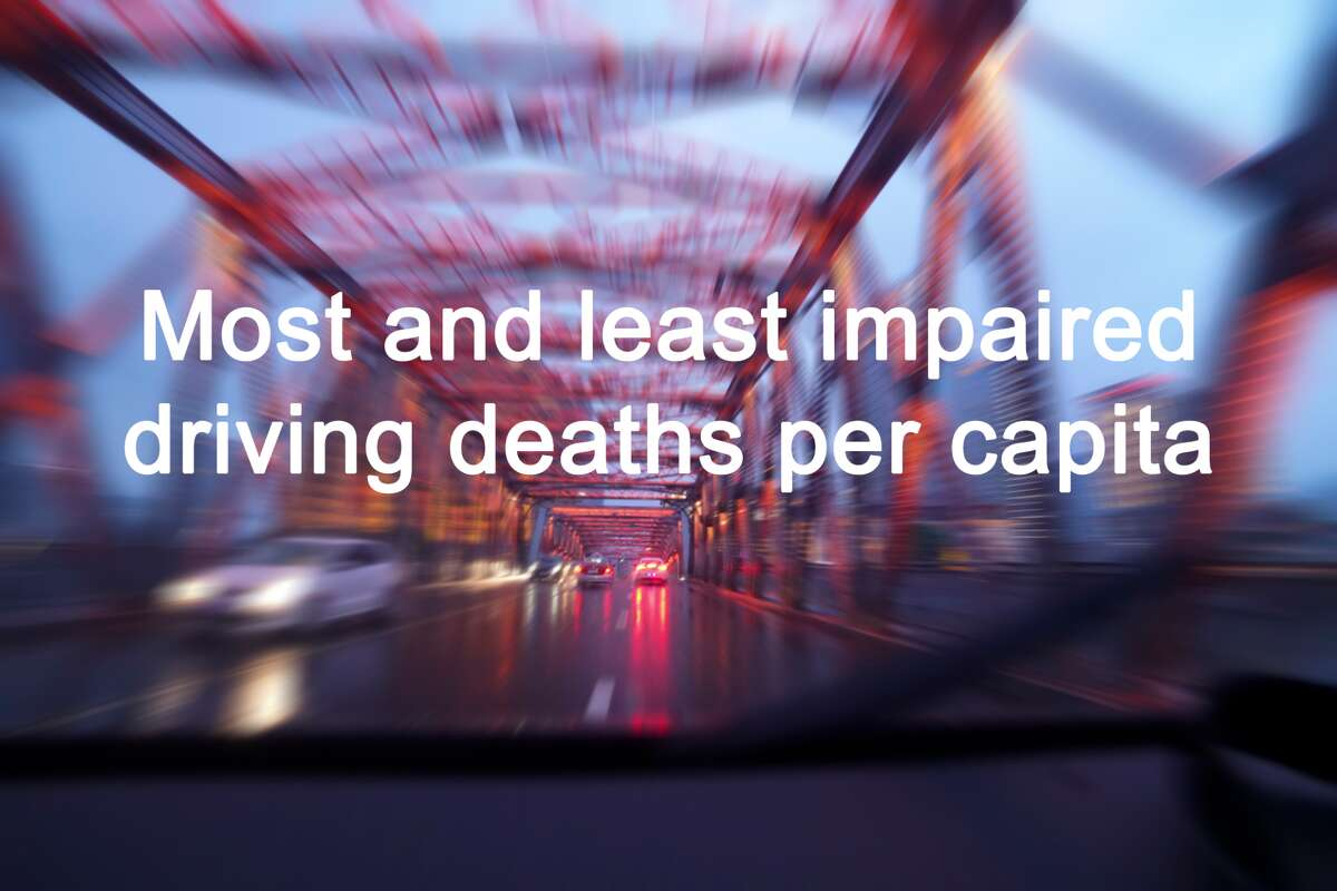 Click through the slideshow to see the states with the most and least impaired driving deaths per capita, according to a recent study by SafeWise. First, states with the fewest impaired driving deaths per capita...