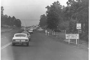 "May  Pursuit of Robert Dent in southeast Texas, May 1969, which inspired the film ""The Sugarland Express."" Dent and his wife, Ila Faye Dent, held Texas state trooper James Kenneth Crone hostage during roughly five-hour, 300-mile chase through Beaumont, Dayton, Houston, Cleveland and Conroe."