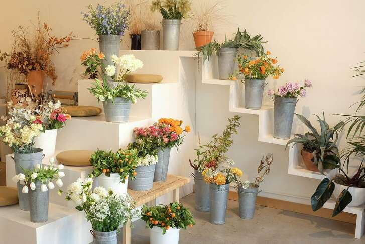 Aubriana MacNiven and Gena Winter are the co-owners of Marigold, a flora shop in the Mission District that has become a popular events space as well.