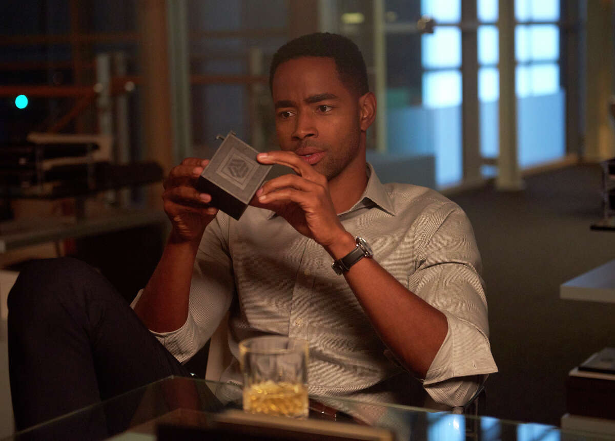 This image released by Sony Pictures shows Jay Ellis in