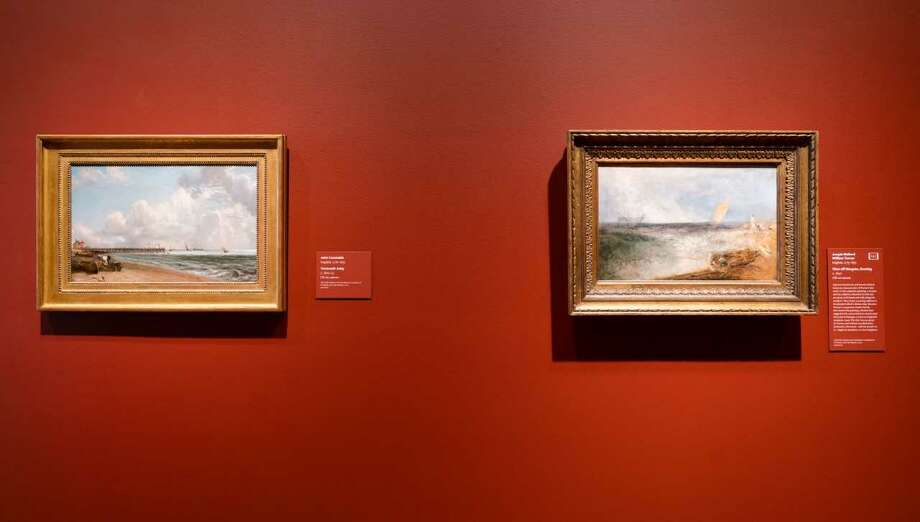 Constable, left, and Turner, right, installation view, photo Wm Jaeger