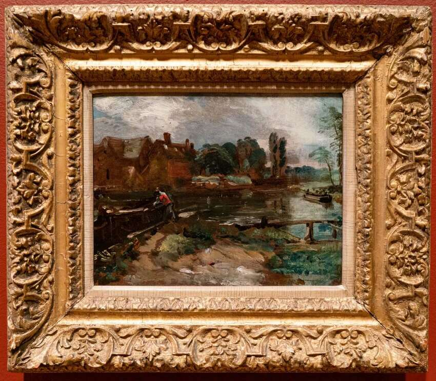 John Constable, Flatford Mill, 1810. Oil on beige laid paper. Photo Wm Jaeger