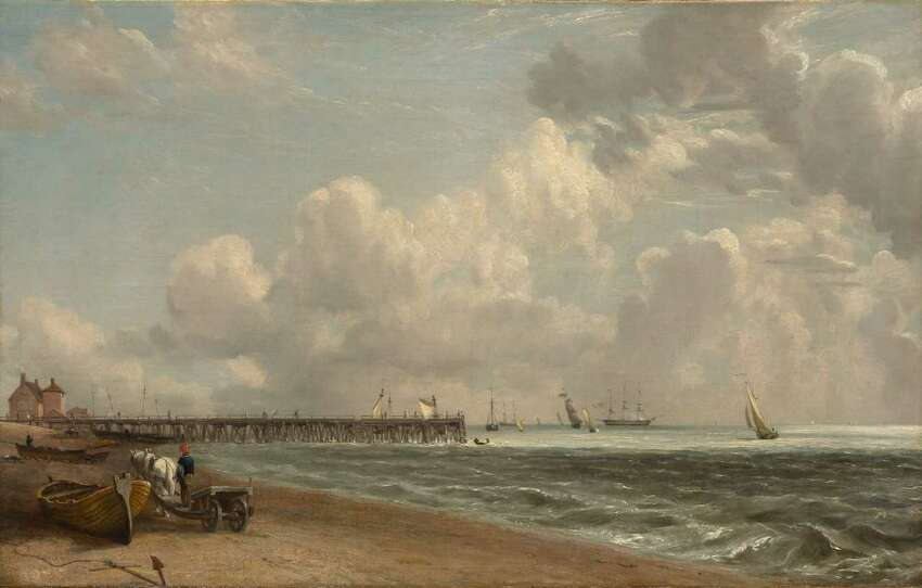 John Constable, Yarmouth Jetty, c. 1822?-23. Oil on canvas (Images courtesy of The Clark)