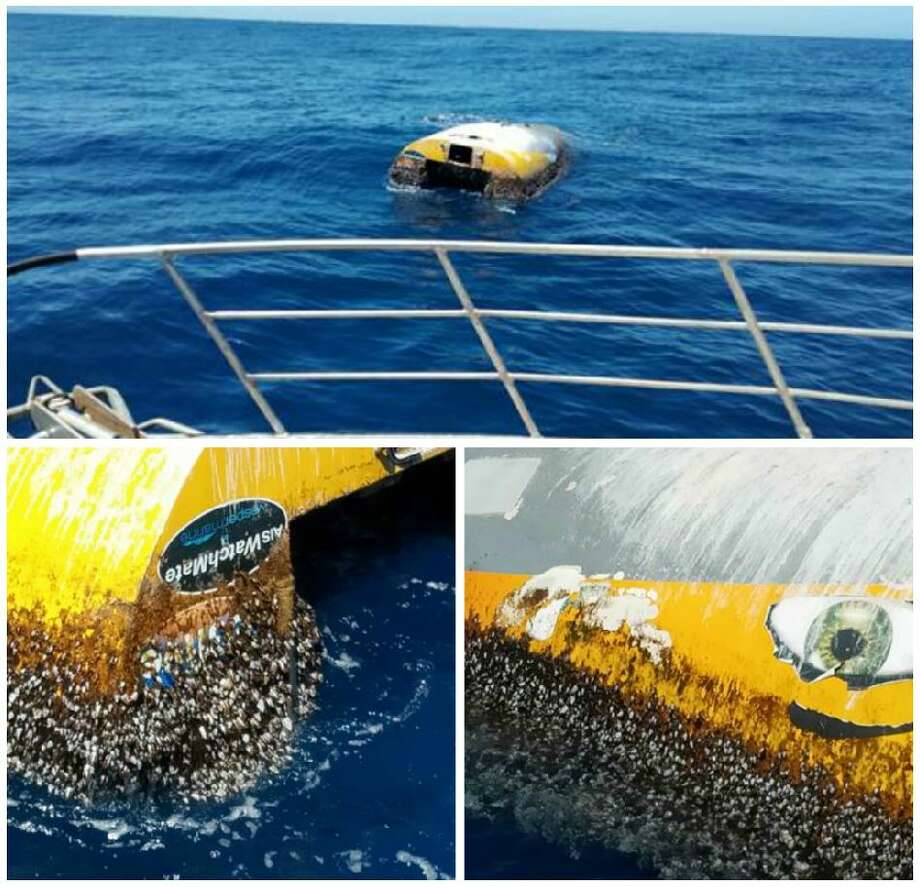 The vessel of Abby Sunderland, who attempted to set the record for youngest person to sail around the world solo, was discovered off the coast of Australia on Dec. 31, 2018, more than eight years after Sunderland's rescue. Photo: SA Police
