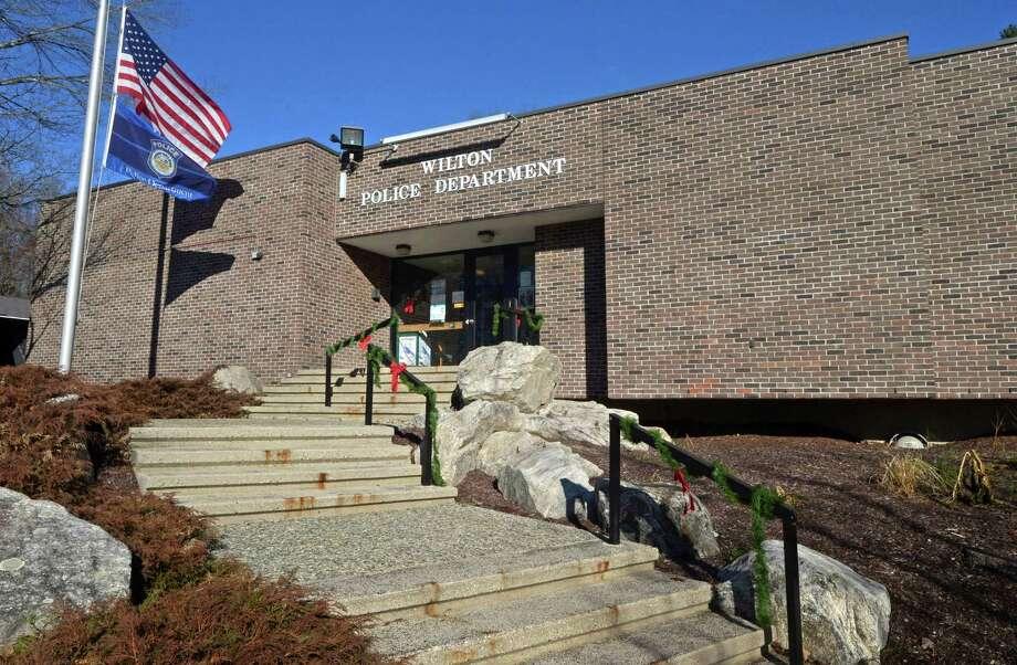 The Wilton Police Department headquarters. Photo: Erik Trautmann / Hearst Connecticut Media / Norwalk Hour
