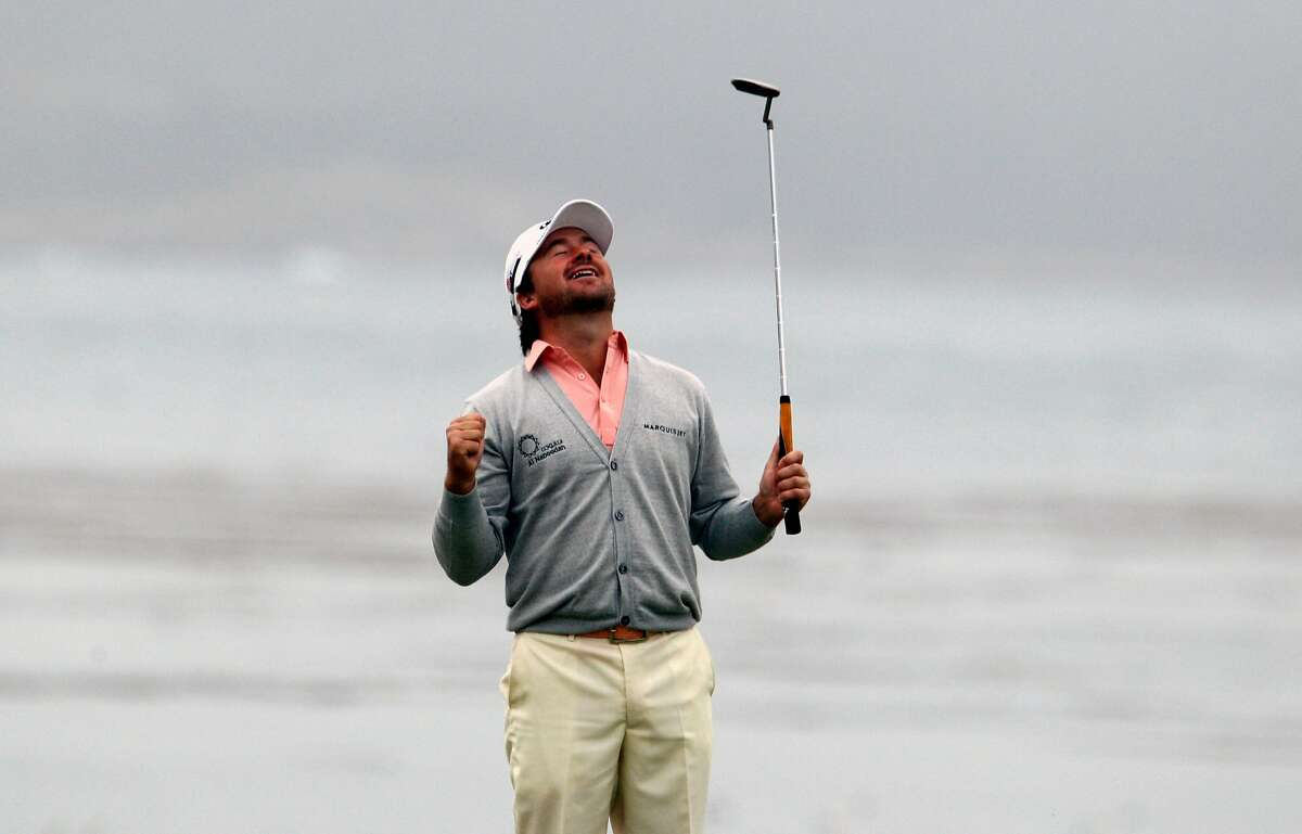 Graeme McDowell breaks down with joy after two-putting the 18th green for the 110th U.S. Open victory Sunday at Pebble Beach.