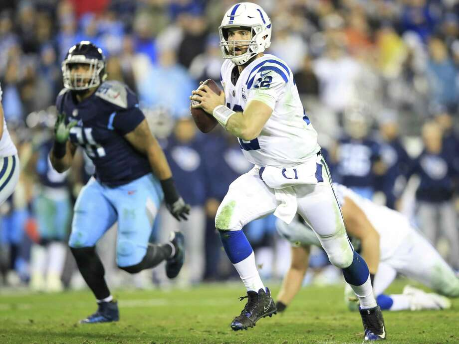 NASHVILLE, TN - DECEMBER 30: Andrew Luck #12 of the Indianapolis Colts runs with the ball against the Tennessee Titans during the fourth quarter at Nissan Stadium on December 30, 2018 in Nashville, Tennessee. (Photo by Andy Lyons/Getty Images) Photo: Andy Lyons / Getty Images / 2018 Getty Images