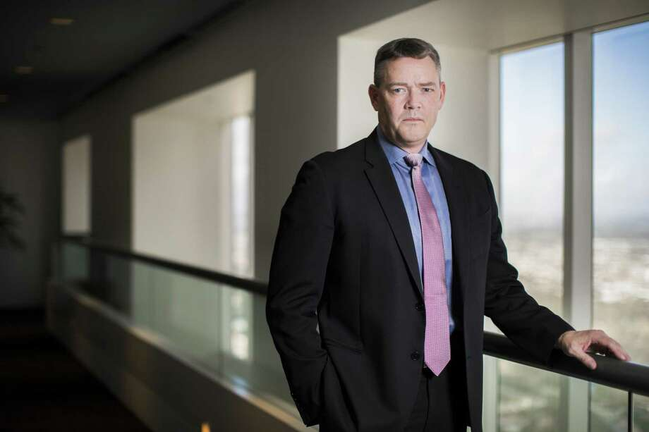 Jeff Gustavson Chevron vice president of Mid-Continent Business Unit answers questions during an interview on Friday at his office in downtown Houston, Nov. 30, 2018. NEXT: See scenes from sand mines used for fracking in the Permian shale.  Photo: Marie D. De Jesús, Houston Chronicle / Staff Photographer / © 2018 Houston Chronicle