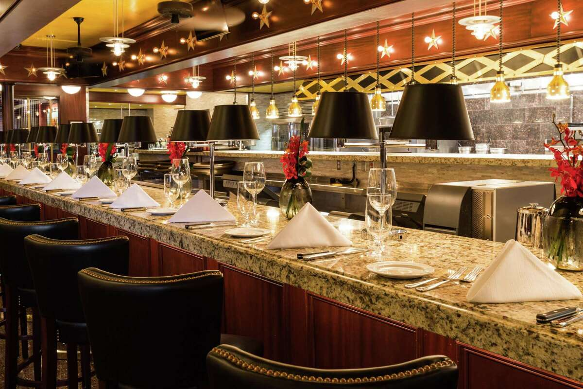 The chef's counter at Pappas Bros. Steakhouse in downtown Houston.