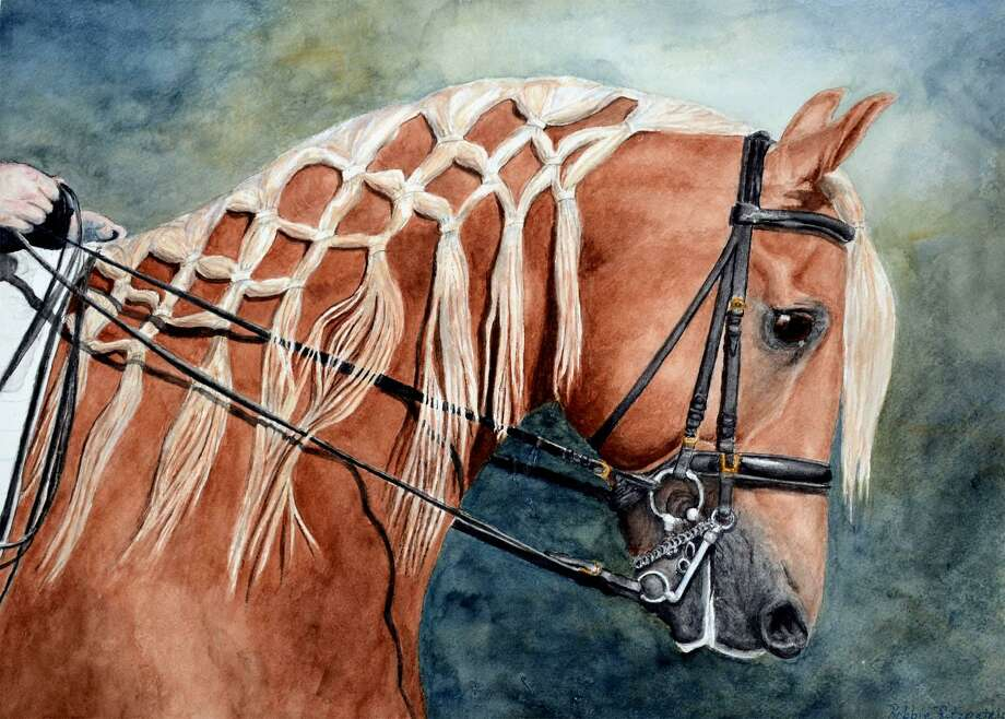 "A watercolor painting by acclaimed Magnolia artist Robbie Fitzpatrick, titled ""Golden Braids."" Photo: Courtesy Photo"