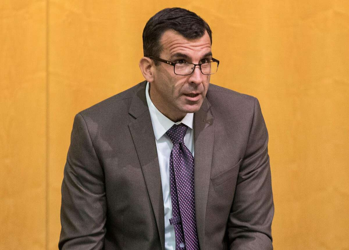 San Jose Mayor Sam Liccardo arrives to attend a City Council meeting at San Jose City Hall in San Jose, Calif. on Tuesday, Dec. 11, 2018.