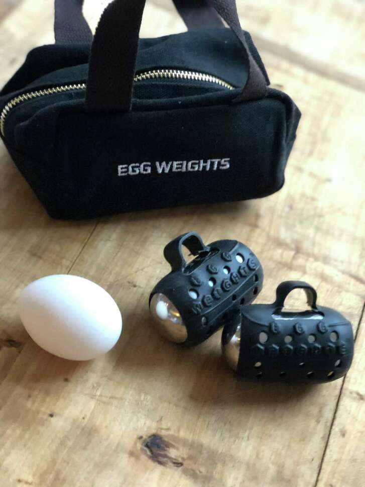 Egg Weights are hand weights that conform to the body's natural motion. Use them to increase the intensity of your workout.