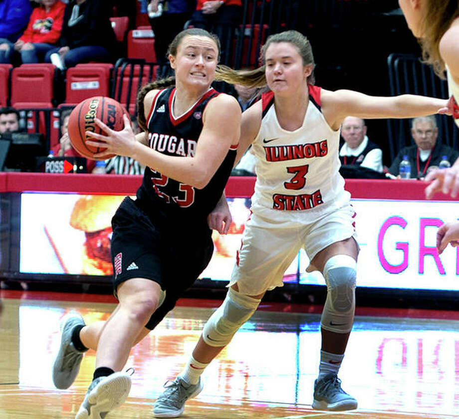 SIUE's Allie Troeckler, a sophomore from CM, leads the Cougars with a 9.7 points-per-game average. She and her teammates will face SEMO at 5:30 p.m Thursday at the Vadalabene Center. That game will be followed by a game between the SIUE and SEMO men's teams. Photo: SIUE Athletics