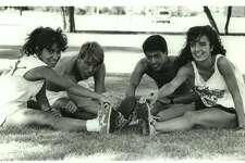 Texas-San Antonio: Michelle Rodriquez, Paul Perrone, Ernie Bueno, Michelle King; college cross country 1989