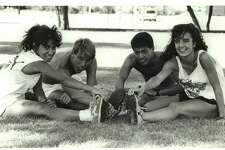 Texas-San Antonio: Michelle Rodriquez, Paul Perrone, Ernie Bueno, Michelle King; college cross country 1989