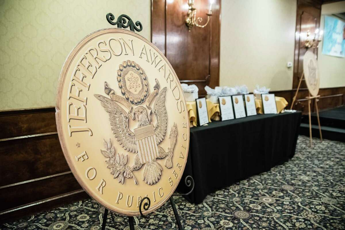 Five finalists and five medalists were recognized for community service April 19th, 2018, at the Century House in Latham, NY for the 2018JeffersonAwards.  (Special to the Times Union by Eric Jenks)