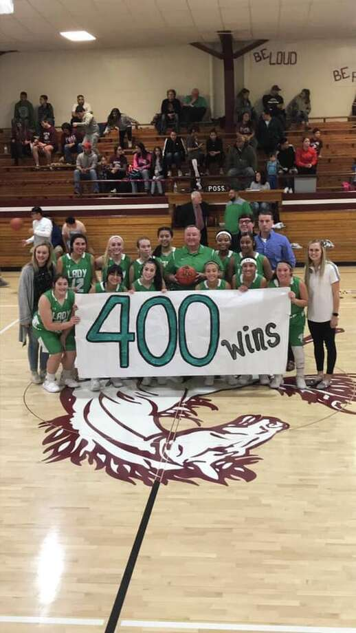 Floydada girls basketball head coach Tommy Simmons reached 400 wins after the Lady Whirlwinds beat Bovina, 56-46, on Dec. 18 in Bovina. Photo: Pete Christy/KCBD