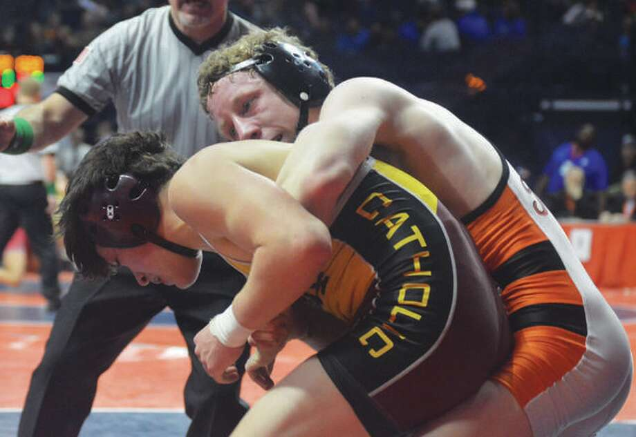 Edwardsville's Luke Odom finished third at last year's Class 3A state tournament in wrestling. He is currently ranked No. 1 in the state.