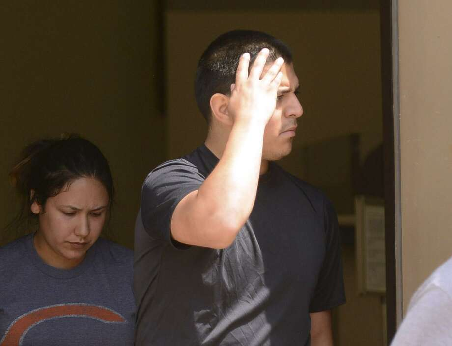 Ruben Hernandez, 26, leaves the federal courthouse in San Antonio onJuly 26. In court Wednesday, Hernandez pleaded guilty to conspiracy to possess with intent to deliver methamphetamine.. Photo: Billy Calzada /Staff File Photo / Billy Calzada