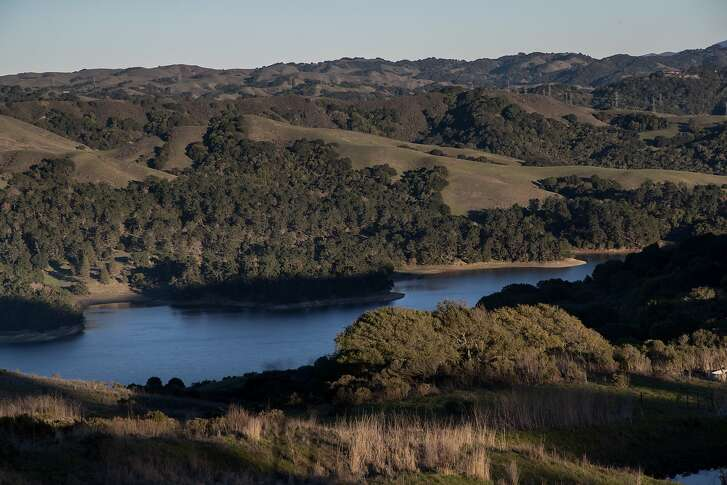 San Pablo Reservoir is seen along Nimitz Way Trail on Thursday, Dec. 27, 2018, in Tilden Nature Area, Calif.