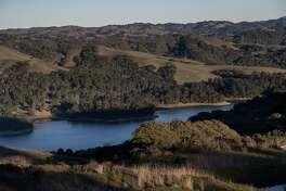 San Pablo Reservoir is seen along Nimitz Way Trail on Thursday, Dec. 27, 2018, in Tilden Nature Area, Calif.