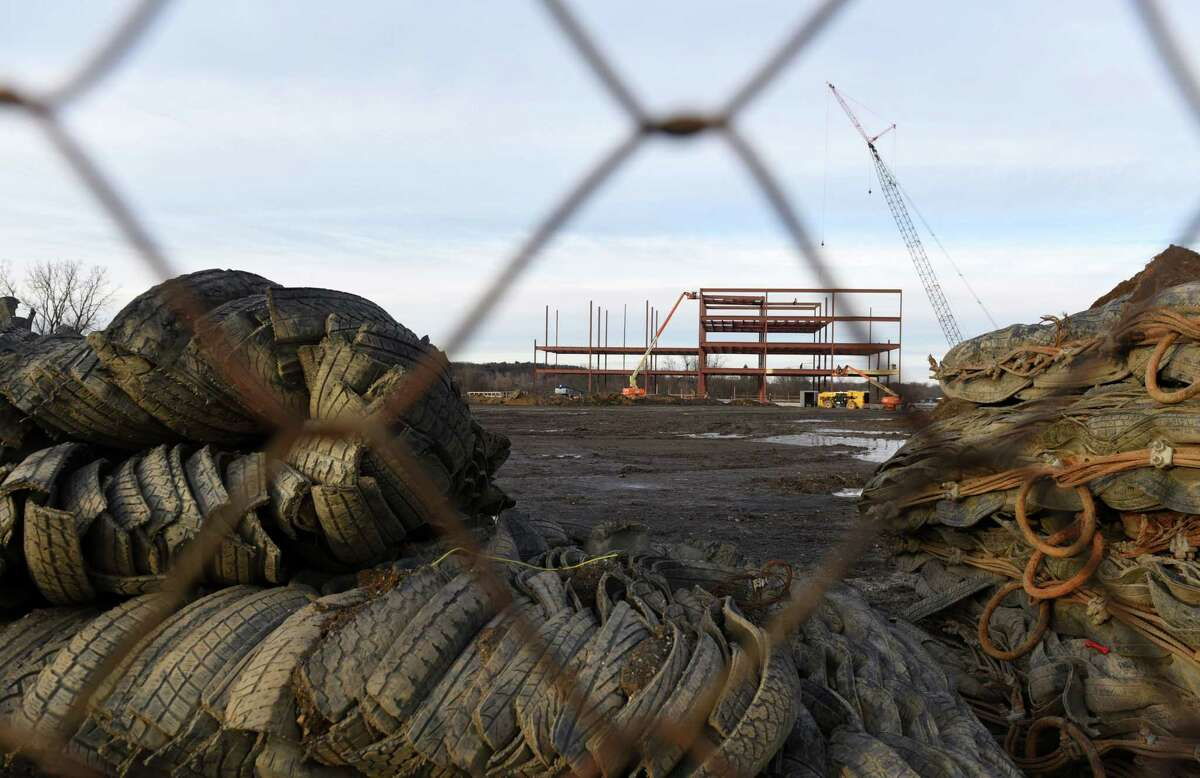 Construction on the Starlite project continues on Wednesday, Jan. 2, 2019, in Latham, N.Y. (Phoebe Sheehan/Times Union)