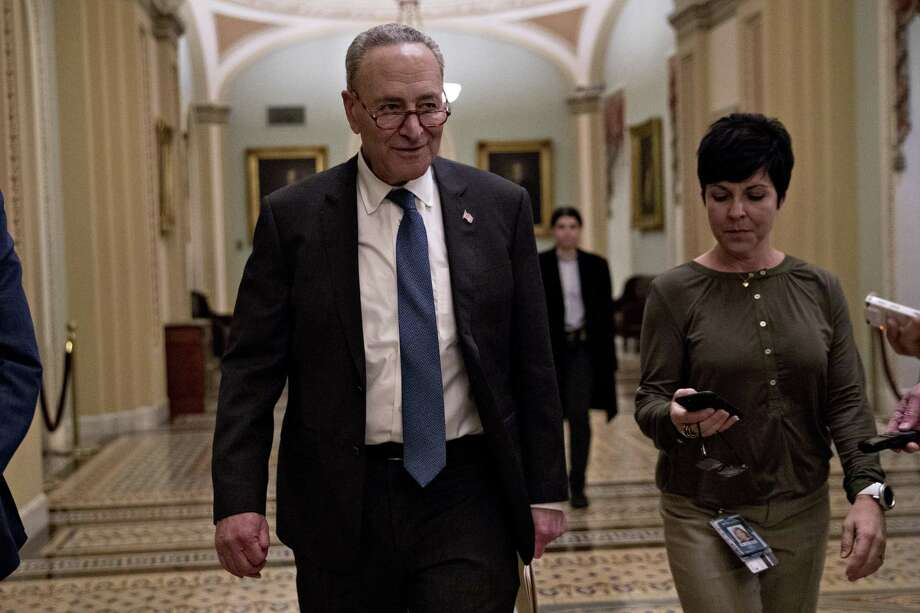 Senate Minority Leader Chuck Schumer, a Democrat from New York, walks though the U.S. Capitol in Washington, D.C., U.S., on Wednesday, Jan. 2, 2019. Congressional leaders were unable to strike a deal to end a partial shutdown of the federal government at a meeting with President Trump today, and the president invited them to return to the White House on Friday for further negotiations. Photographer: Andrew Harrer/Bloomberg Photo: Andrew Harrer / Bloomberg / © 2019 Bloomberg Finance LP
