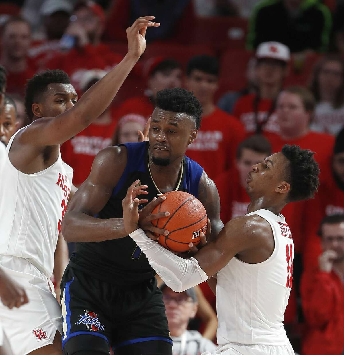 during the second half of an NCAA Men's basketball game at Feritta Center, Wednesday, Jan. 2, 2019, in Houston.