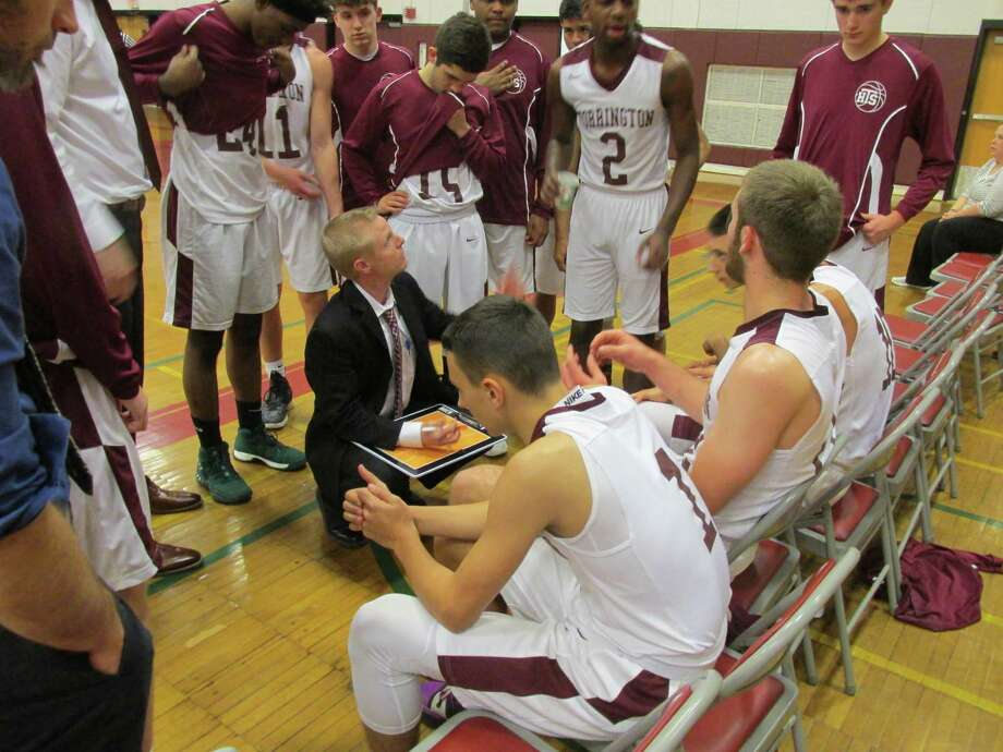 Torrington coach Eric Gamari kept his team in it until a late two-minute Crosby defensive spree turned into a Bulldog win at Torrington High School Wednesday night. Photo: Peter Wallace