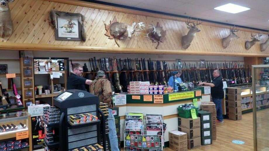 Frank's Great Outdoors in Linwood includes a gun department, among many other offerings. (Tom Lounsbury/Hearst Michigan)