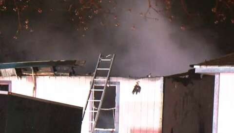 Tomball family safe after mobile home destroyed in fire - Houston