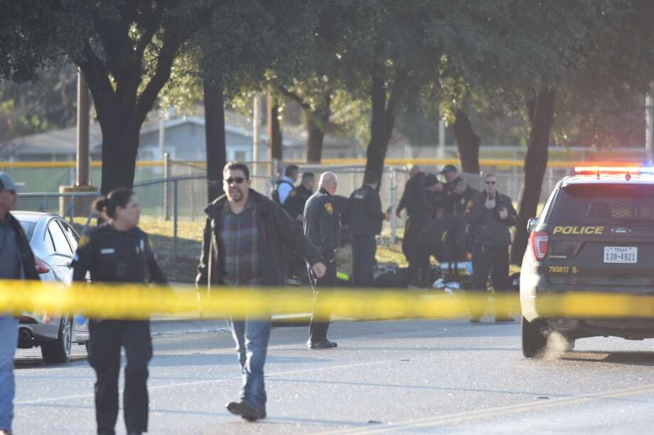 San Antonio police are responding to the second officer-involved shooting of 2019. The shooting was reported on Jan. 3, 2019 in the 1400 block of Pleasanton Road. Photo: Caleb Downs