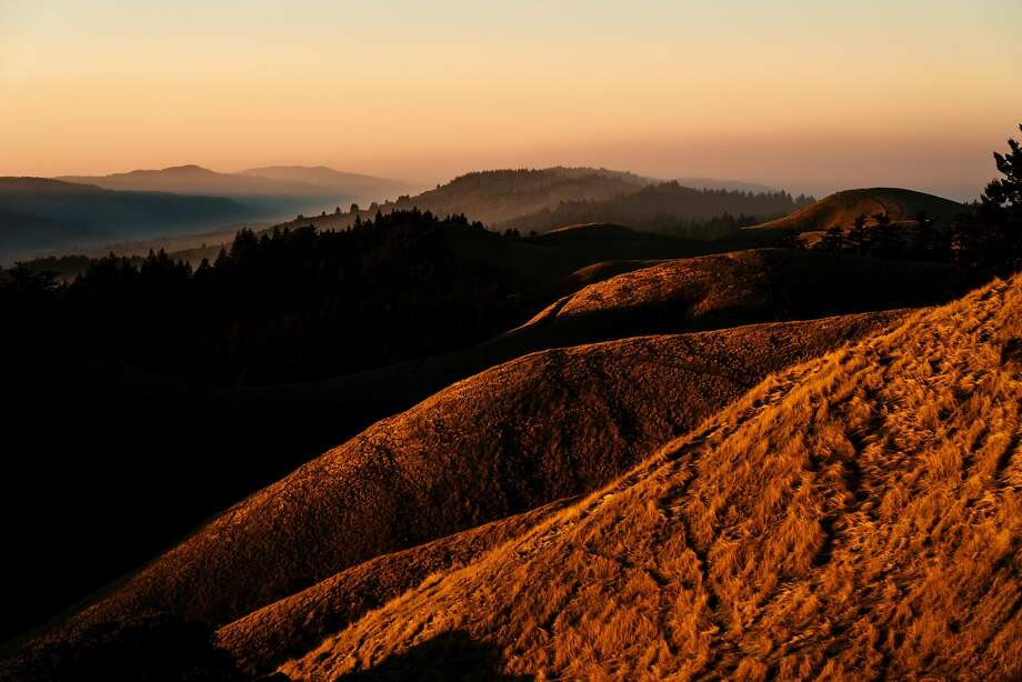 The sun sets upon the hills of Mount Tamalpais State Park in Mill Valley, Calif., on Thursday, Dec. 13, 2018. Click through the gallery for a look at the Bay Area's deadliest beaches. Photo: Mason Trinca, Special To The Chronicle
