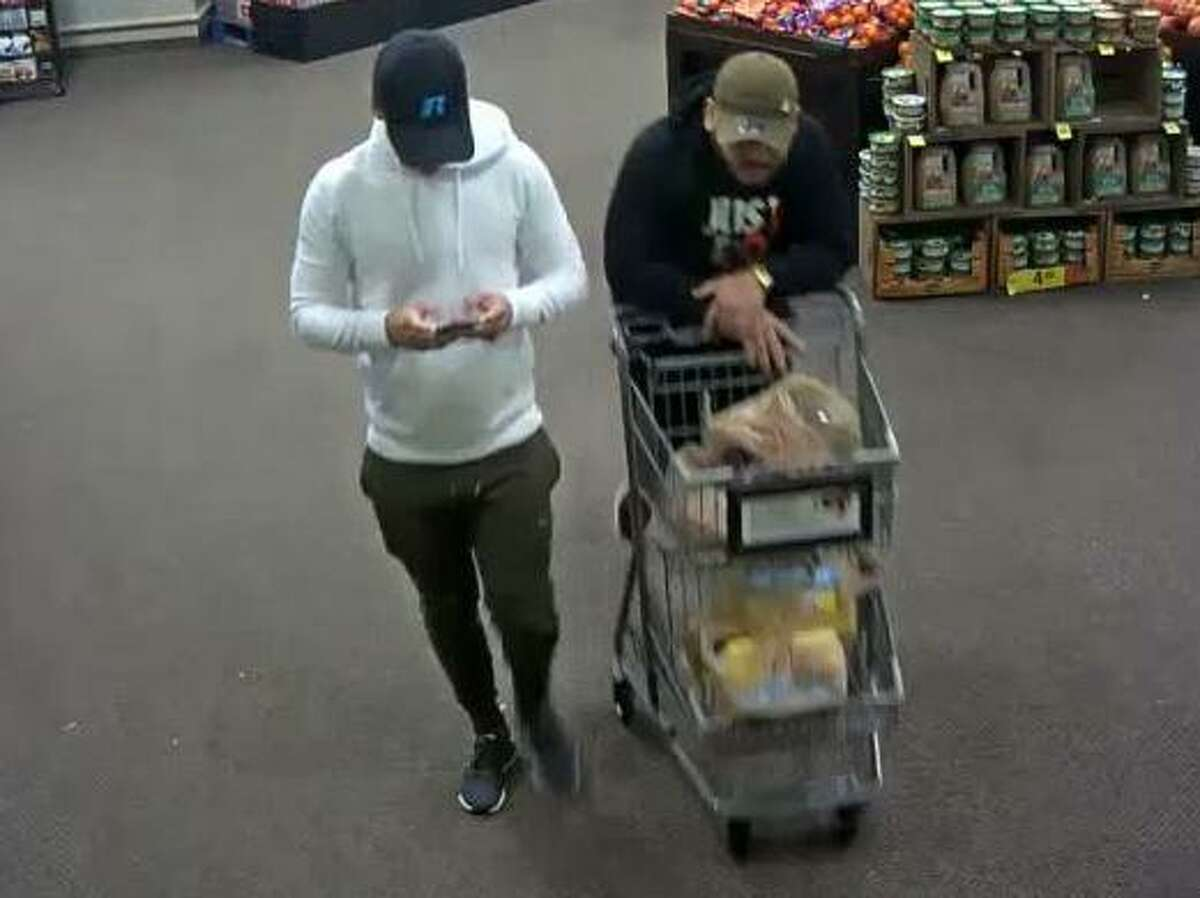 The Harris County Precinct 5 Constable's Office is seeking the public's help in locating four suspects who allegedly used stolen debit card information from a Katy senior citizen, racking up charges of more than $3,000.